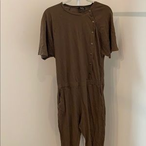 Zara khaki jumpsuit
